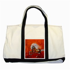 Steampunk, Wonderful Wild Steampunk Horse Two Tone Tote Bag