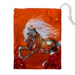 Steampunk, Wonderful Wild Steampunk Horse Drawstring Pouches (xxl)