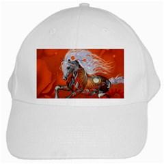 Steampunk, Wonderful Wild Steampunk Horse White Cap