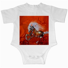 Steampunk, Wonderful Wild Steampunk Horse Infant Creepers
