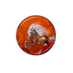 Steampunk, Wonderful Wild Steampunk Horse Hat Clip Ball Marker