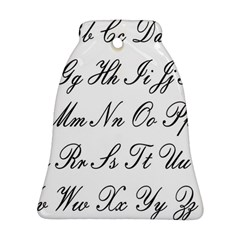 Alphabet Embassy Font Bell Ornament (two Sides)