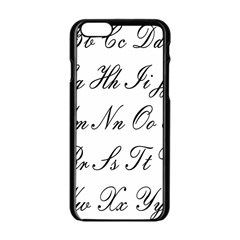 Alphabet Embassy Font Apple Iphone 6/6s Black Enamel Case
