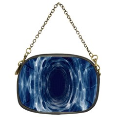 Worm Hole Line Space Blue Chain Purses (two Sides)
