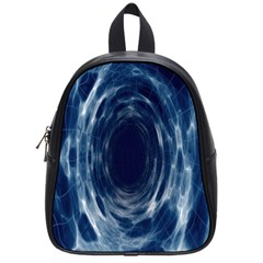 Worm Hole Line Space Blue School Bag (small)