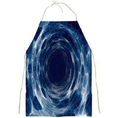 Worm Hole Line Space Blue Full Print Aprons
