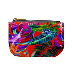 Aloha Hawaiian Flower Floral Sexy Summer Orange Mini Coin Purses