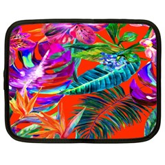 Aloha Hawaiian Flower Floral Sexy Summer Orange Netbook Case (xxl)