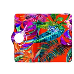 Aloha Hawaiian Flower Floral Sexy Summer Orange Kindle Fire Hdx 8 9  Flip 360 Case