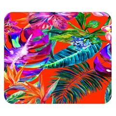 Aloha Hawaiian Flower Floral Sexy Summer Orange Double Sided Flano Blanket (small)