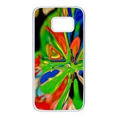 Acrobat Wormhole Transmitter Monument Socialist Reality Rainbow Samsung Galaxy S7 White Seamless Case
