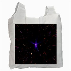 Animation Plasma Ball Going Hot Explode Bigbang Supernova Stars Shining Light Space Universe Zooming Recycle Bag (one Side)