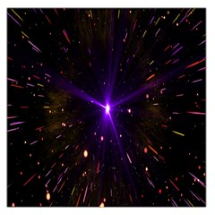 Animation Plasma Ball Going Hot Explode Bigbang Supernova Stars Shining Light Space Universe Zooming Large Satin Scarf (square)