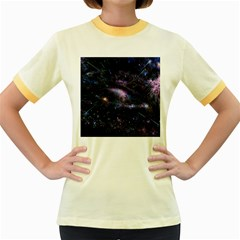 Animation Plasma Ball Going Hot Explode Bigbang Supernova Stars Shining Light Space Universe Zooming Women s Fitted Ringer T Shirts