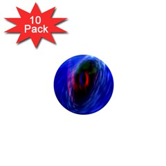 Black Hole Blue Space Galaxy 1  Mini Magnet (10 Pack)