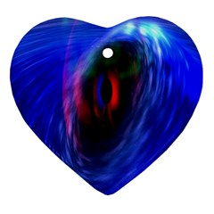 Black Hole Blue Space Galaxy Heart Ornament (two Sides)