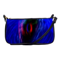 Black Hole Blue Space Galaxy Shoulder Clutch Bags
