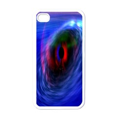 Black Hole Blue Space Galaxy Apple Iphone 4 Case (white)