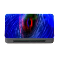 Black Hole Blue Space Galaxy Memory Card Reader With Cf