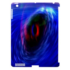 Black Hole Blue Space Galaxy Apple Ipad 3/4 Hardshell Case (compatible With Smart Cover)
