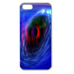 Black Hole Blue Space Galaxy Apple Seamless Iphone 5 Case (clear)