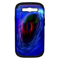 Black Hole Blue Space Galaxy Samsung Galaxy S Iii Hardshell Case (pc+silicone)