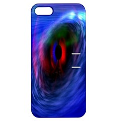 Black Hole Blue Space Galaxy Apple Iphone 5 Hardshell Case With Stand