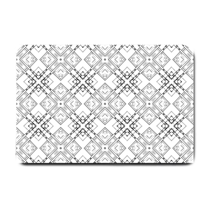 Background Pattern Diagonal Plaid Black Line Small Doormat