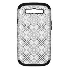 Background Pattern Diagonal Plaid Black Line Samsung Galaxy S Iii Hardshell Case (pc+silicone)