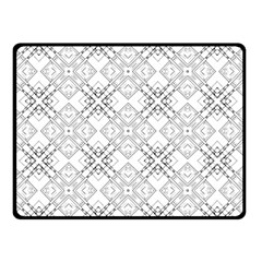 Background Pattern Diagonal Plaid Black Line Double Sided Fleece Blanket (small)