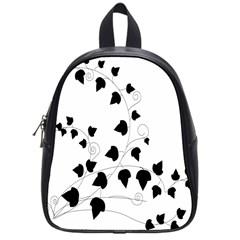 Black Leaf School Bag (small)