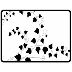 Black Leaf Fleece Blanket (large)