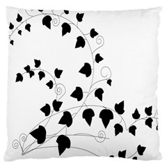 Black Leaf Large Cushion Case (two Sides)