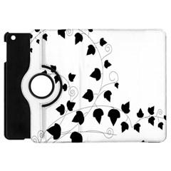 Black Leaf Apple Ipad Mini Flip 360 Case