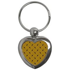 Unicorn Pattern Golden Key Chains (heart)