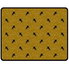 Unicorn Pattern Golden Fleece Blanket (medium)