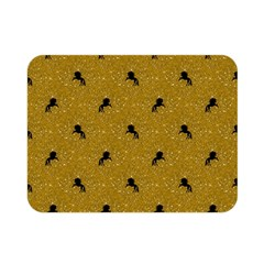 Unicorn Pattern Golden Double Sided Flano Blanket (mini)