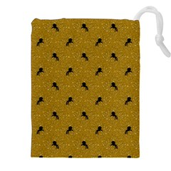 Unicorn Pattern Golden Drawstring Pouches (xxl)