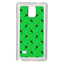 Unicorn Pattern Green Samsung Galaxy Note 4 Case (white)