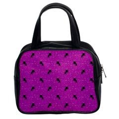 Unicorn Pattern Pink Classic Handbags (2 Sides)