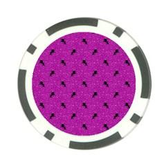 Unicorn Pattern Pink Poker Chip Card Guard (10 Pack)