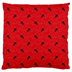 Unicorn Pattern Red Standard Flano Cushion Case (two Sides)