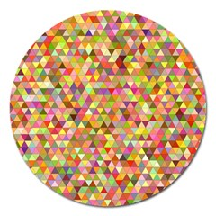 Multicolored Mixcolor Geometric Pattern Magnet 5  (round)