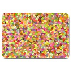 Multicolored Mixcolor Geometric Pattern Large Doormat