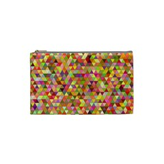 Multicolored Mixcolor Geometric Pattern Cosmetic Bag (small)