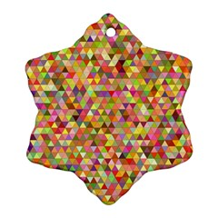 Multicolored Mixcolor Geometric Pattern Snowflake Ornament (two Sides)
