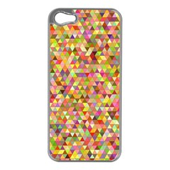 Multicolored Mixcolor Geometric Pattern Apple Iphone 5 Case (silver)