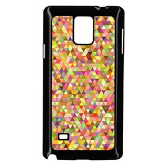 Multicolored Mixcolor Geometric Pattern Samsung Galaxy Note 4 Case (black)
