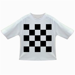 Grid Domino Bank And Black Infant/toddler T Shirts