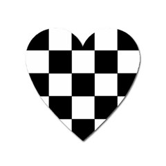 Grid Domino Bank And Black Heart Magnet